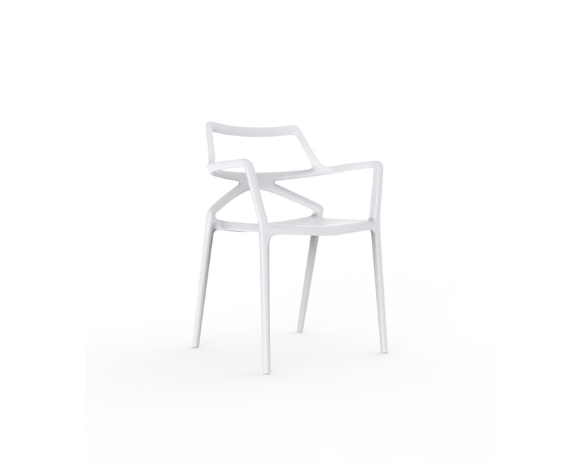 Vondom - Chaise avec accoudoirs Delta - blanc - 1