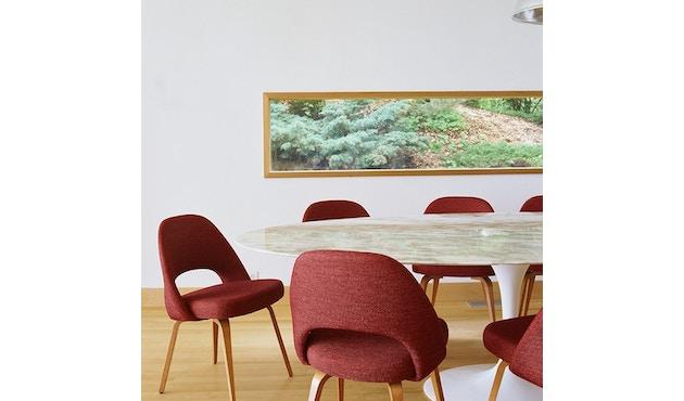 Knoll International - Saarinen Konferenz Stuhl - Bezug Volo schwarz - Stuhlbeine Stahl schwarz lackiert - 2