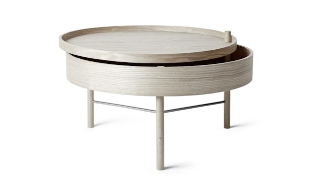 Menu - Turning Table bijzettafel - witte eik - 1