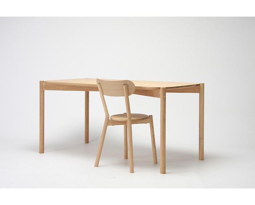 Karimoku New Standard - Castor Tisch quadratisch - Eiche - 6