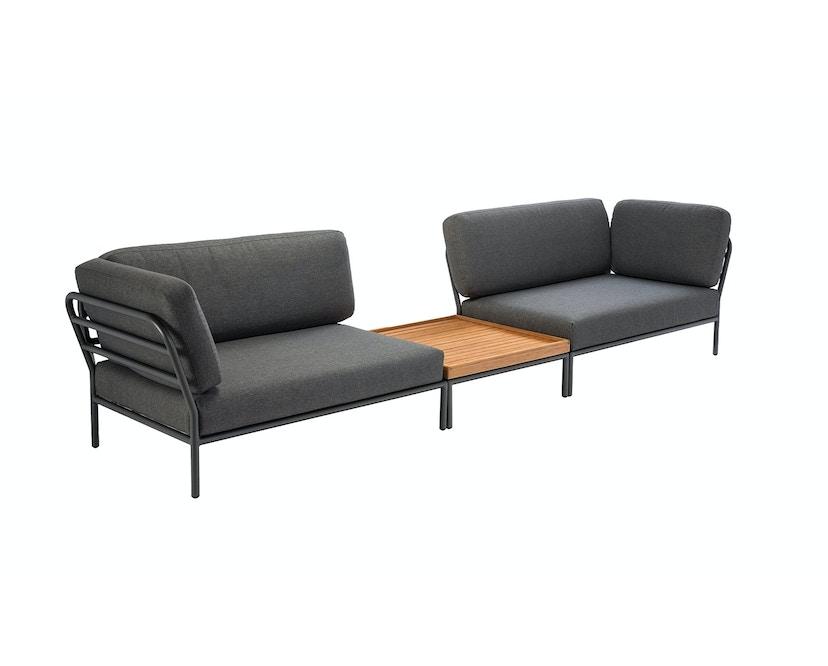 Houe - Level Lounge Sofa - grau - Armlehne rechts - 4