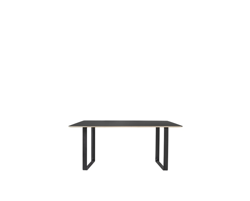 Muuto - 70/70 Tisch S - Platte schwarz, Gestell schwarz - 1
