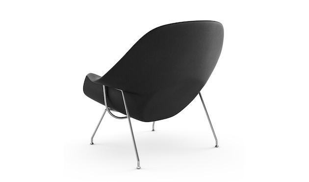 Knoll International - Saarinen Womb Fauteuil - Relax - Chroom - standaard (B/H/T 106x92x94 cm) - Donsvulling - Volo Black - zwart - 0
