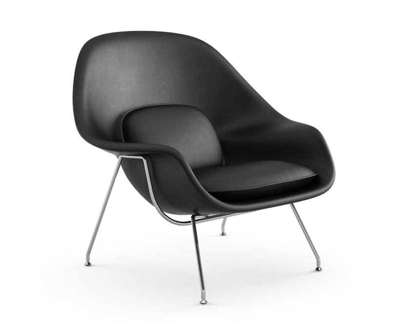 Knoll International - Saarinen Womb Sessel - Relax - Volo Black - Polyesterfaser-Füllung - Gestell Chrom glänzend - 0