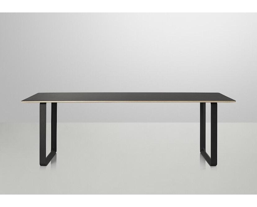 Muuto - 70/70 Tisch S - Platte schwarz, Gestell schwarz - 2