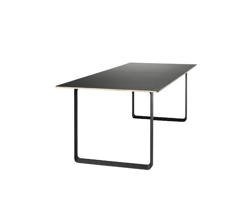 Muuto - 70/70 Tisch S - Platte schwarz, Gestell schwarz - 3