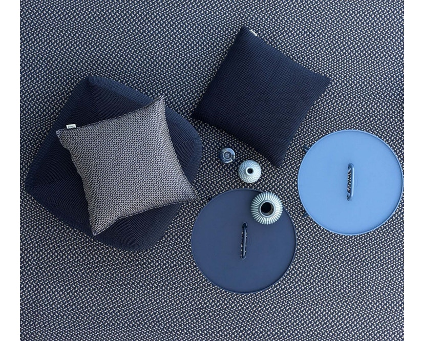 Cane-line - Defined tapijt rond - turquoise - Ø140 cm - 5