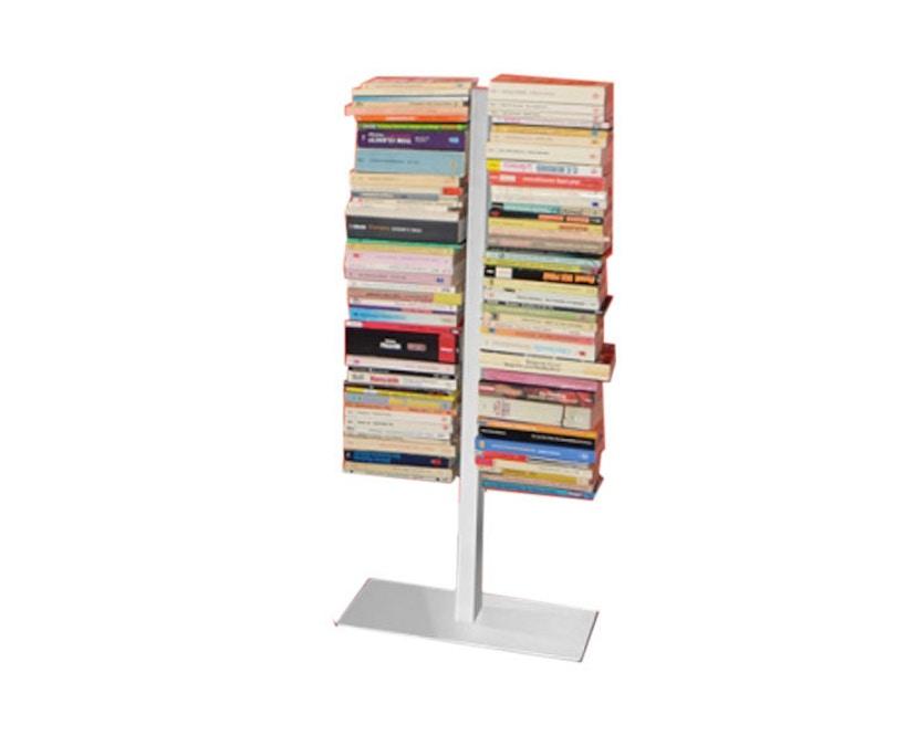 Radius - Booksbaum dubbel boekenrek - wit - Hoogte 91 cm - 1