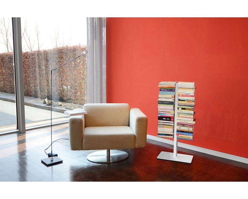 Radius - Booksbaum dubbel boekenrek - wit - Hoogte 91 cm - 2