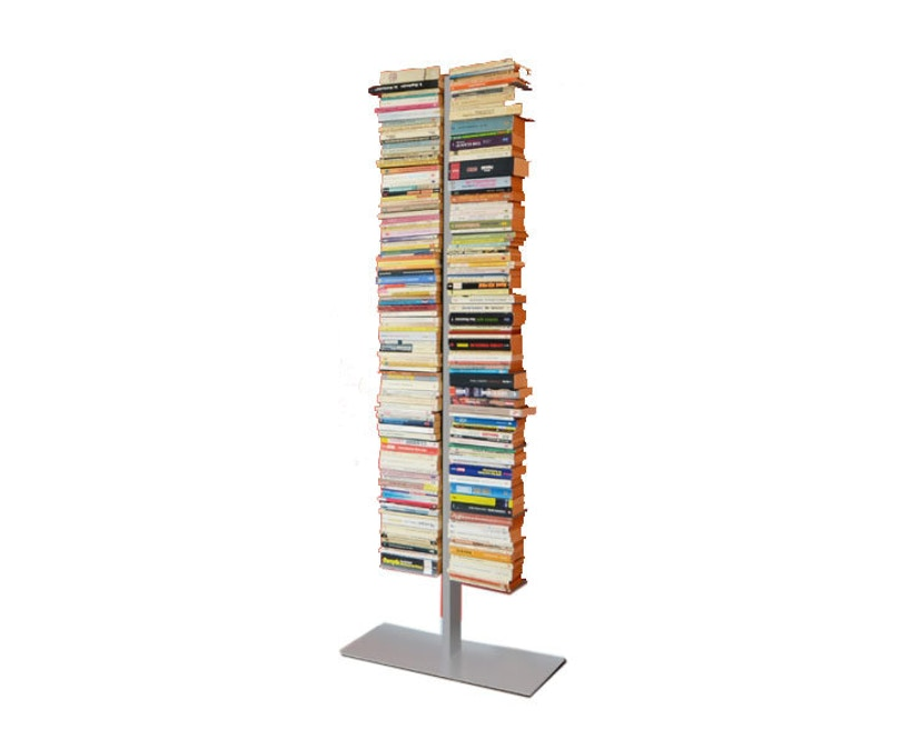 Radius - Booksbaum Bücherregal 2-reihig - groß - silber - 1