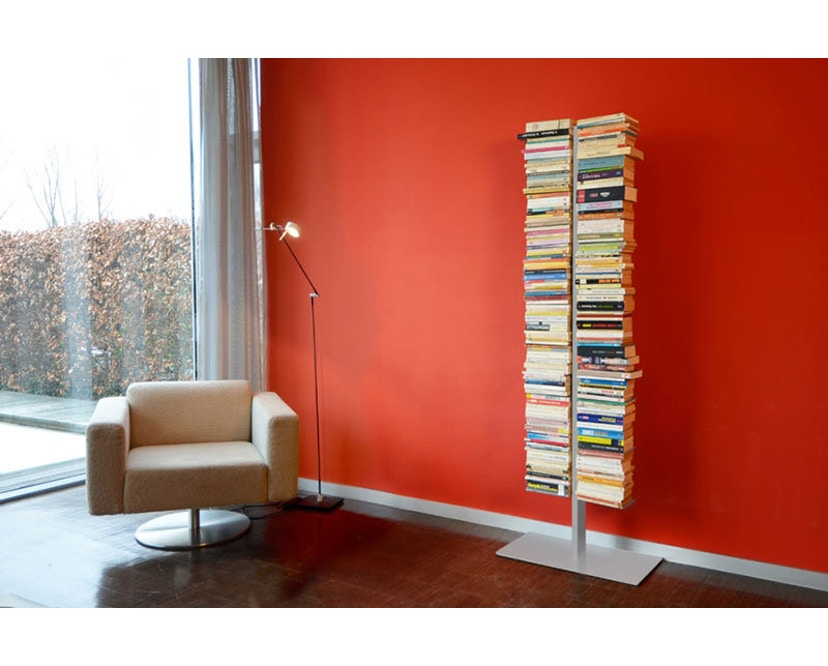 Radius - Booksbaum Bücherregal 2-reihig - groß - silber - 2