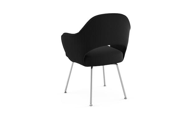 Knoll International - Saarinen Conference Armleunstoel - chroom glanzend - Ultrasuede - zwart - 1
