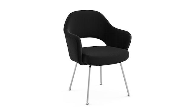 Knoll International - Saarinen Conference Armleunstoel - chroom glanzend - Ultrasuede - zwart - 0