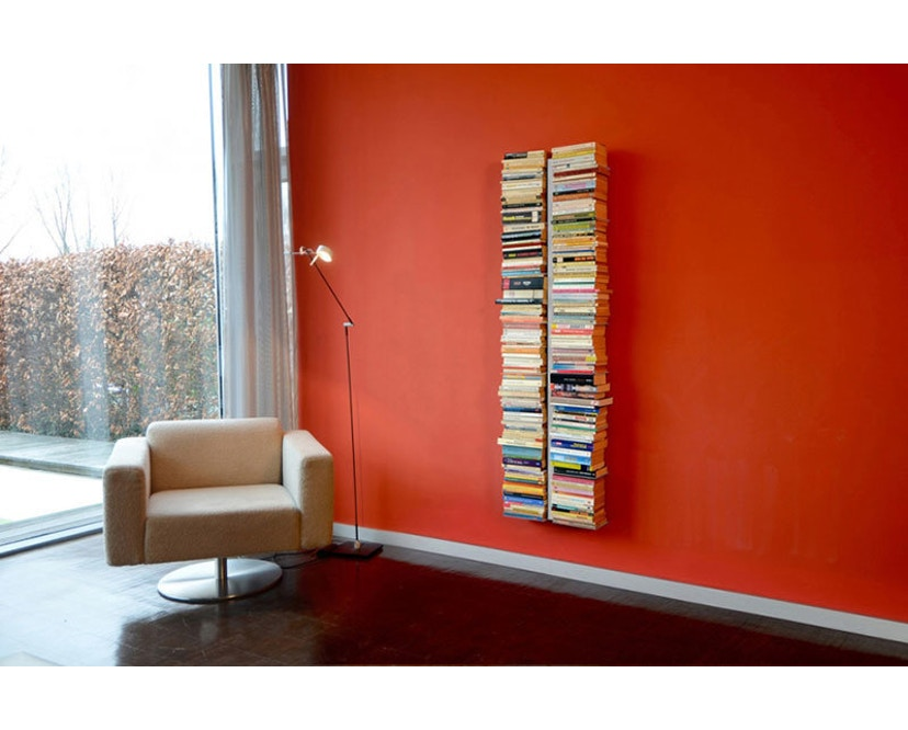Radius - Booksbaum Bücherwandregal 2-reihig - groß - weiß - 2