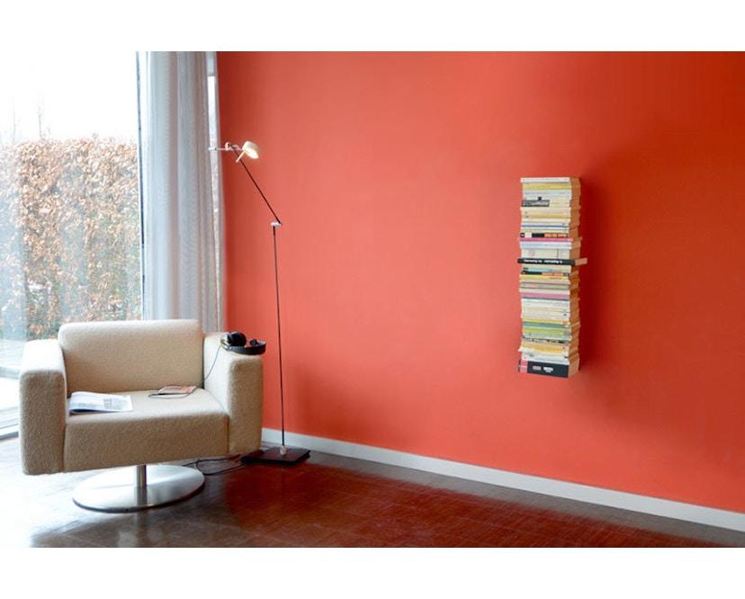 Radius - Booksbaum enkel boekenwandrek - zwart - Hoogte 90 cm - 2