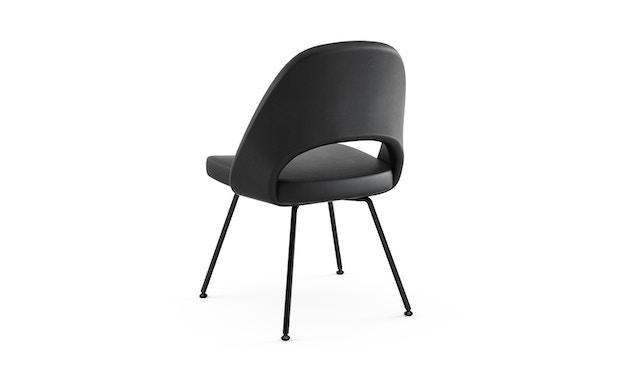 Knoll International - Saarinen Konferenz Stuhl - Bezug Volo schwarz - Stuhlbeine Stahl schwarz lackiert - 1
