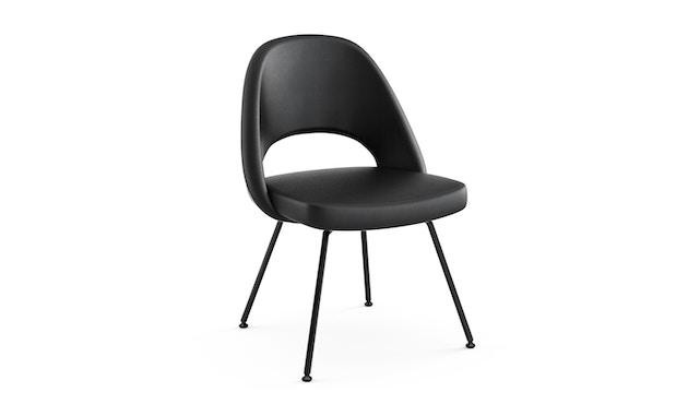 Knoll International - Saarinen Konferenz Stuhl - Bezug Volo schwarz - Stuhlbeine Stahl schwarz lackiert - 0