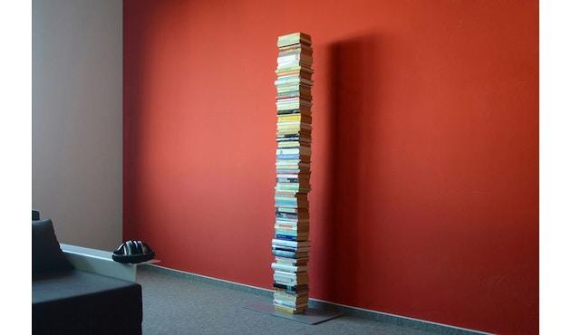 Radius - Booksbaum Bücherregal 1-reihig - groß - silber - 2