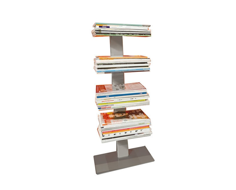 Radius - Booksbaum Magazin Regal - silber - 2
