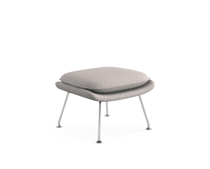Knoll International - Saarinen Womb Ottoman - mittel - Cato sandgrau - 0