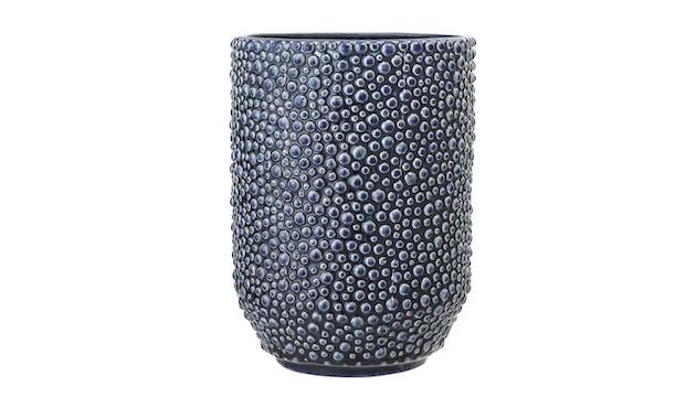 Bloomingville - Vase, Blau, Steinzeug - 0
