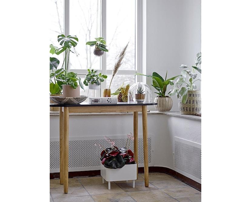 Bloomingville - Blumentopf für Stand, Weiß, Teil des Satzes - 2