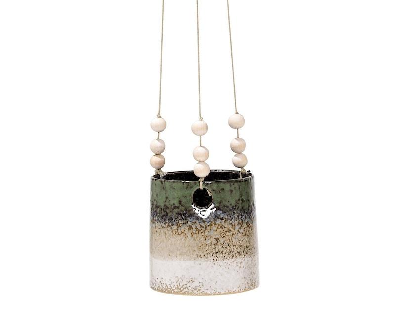 Bloomingville - Blumentopf, hängend, Grün / Sand - 0