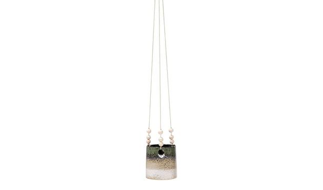Bloomingville - Blumentopf, hängend, Grün / Sand - 1