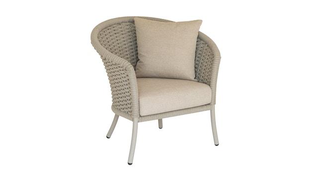 Alexander Rose - Cordial Stuhl, Lehne gerundet - beige - Bezug/Oatmeal - 0