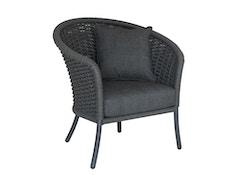Cordial Stuhl, Lehne gerundet - grau - Bezug/Anthracite