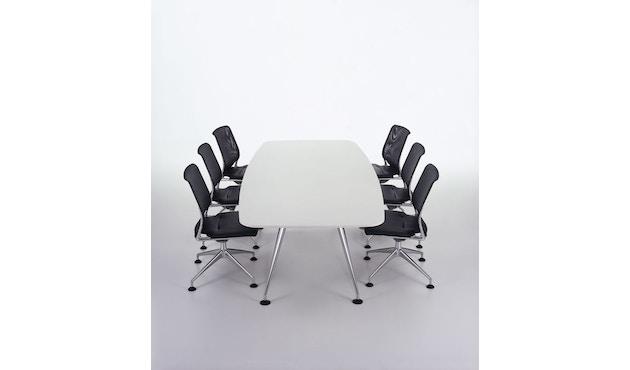 Vitra - MedaMorph Konferenztisch bootsförmig, 200x100 cm, Systemfuß poliert - Melamin soft light - 4