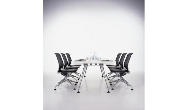 Vitra - MedaMorph Konferenztisch bootvormig - melamine soft white - 200 x 100 cm - 5