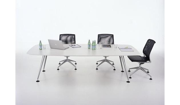 Vitra - MedaMorph Konferenztisch bootvormig - melamine soft white - 200 x 100 cm - 6