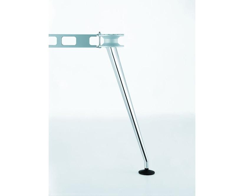 Vitra - MedaMorph Konferenztisch bootsförmig, 200x100 cm, Systemfuß poliert - Melamin soft light - 7