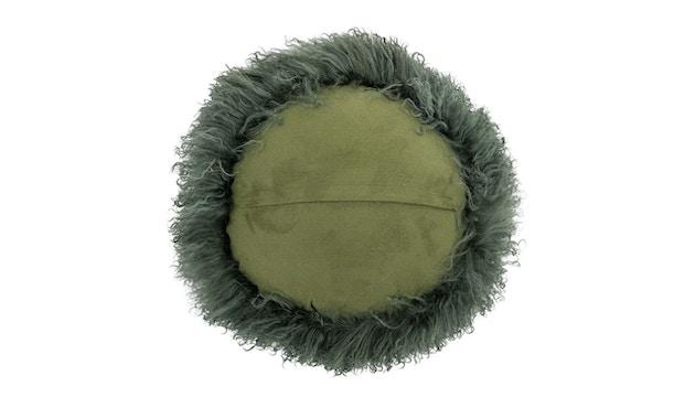 Bloomingville - Kissen mongolisches Lammfell - grün - 2