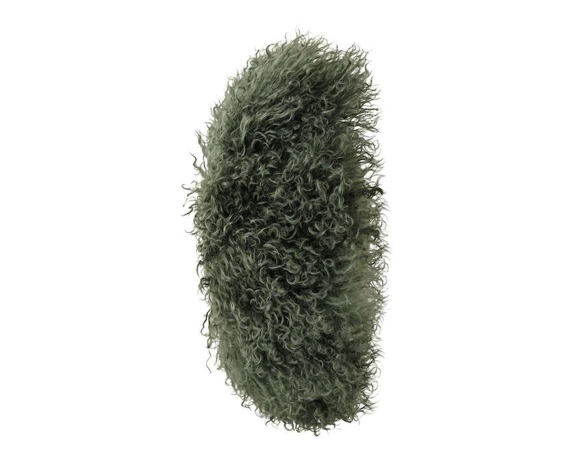Bloomingville - Kissen mongolisches Lammfell - grün - 3
