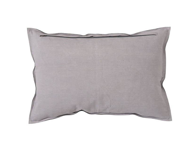 Bloomingville - Kissen, Hellgrau w / Light Grey Canvas - 1