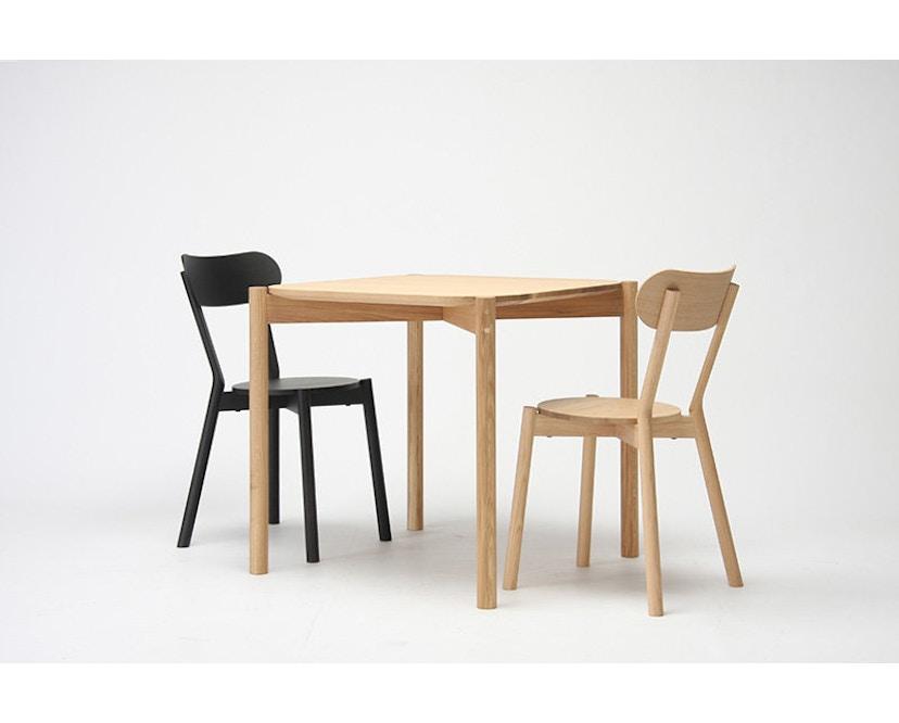 Karimoku New Standard - Castor Tisch quadratisch - Eiche - 7