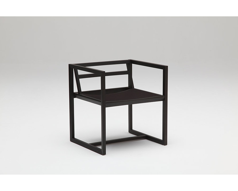 Karimoku New Standard - REN Armlehnstuhl - Ahorn schwarz - Bezug macchiato schwarz - 2