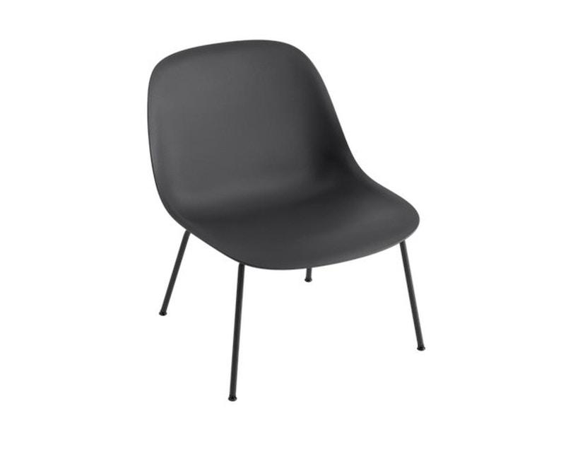 Muuto - Fiber Lounge Stuhl - Rohrgestell Shell Base - schwarz - 1