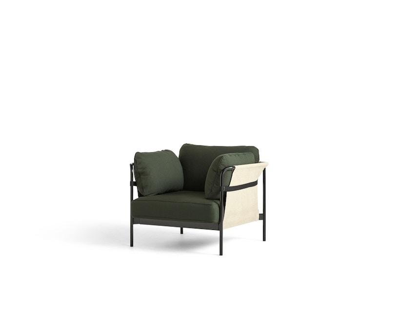 HAY - Can 2.0 Sessel - Aussenbespannung natur - Gestell schwarz - Steelcut 975 - 1