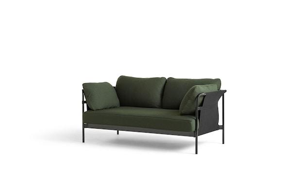 HAY - Can 2.0 2-Sitzer Sofa - KvadratSteelcut975 - Gestell schwarz pulverbeschichtet - 1