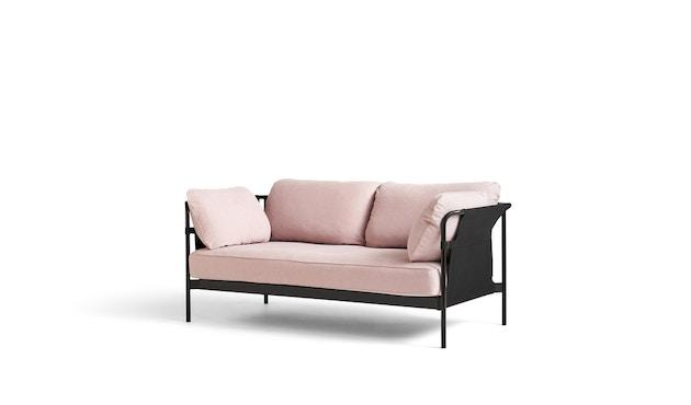 HAY - Can 2.0 2-Sitzer Sofa - KvadratLinara415 - Gestell schwarz pulverbeschichtet - 1