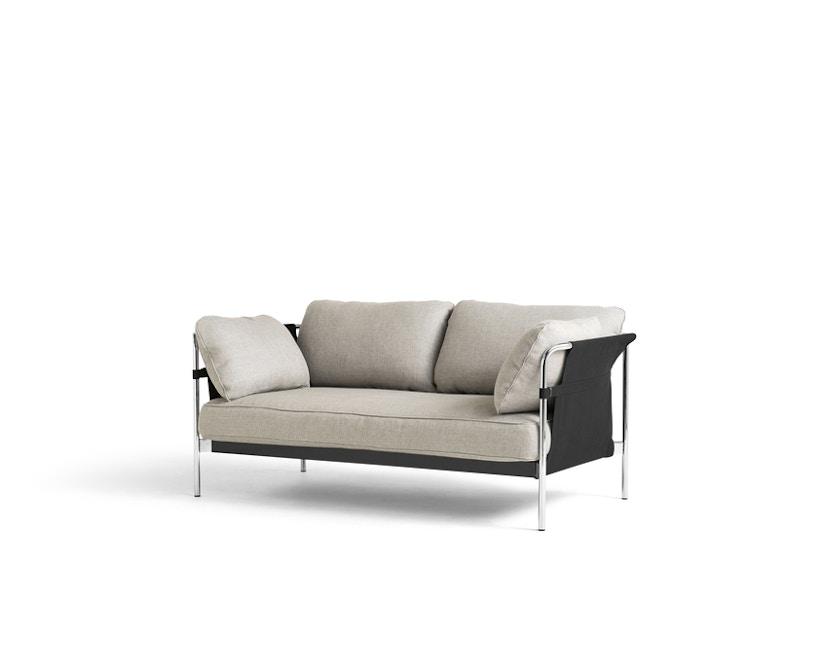 HAY - Can 2.0 2-Sitzer Sofa - KvadratRoden04 - Gestell chrom - 1