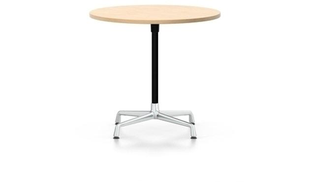 Vitra - Eames Side Table rund Höhe 40cm, ∅70cm, Furnier Eiche hell,  Ausleger chrom, Standrohr pulverbeschichtet basic dark - Furnier Eiche hell - 2