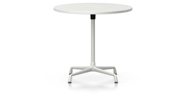 Vitra - Eames Contract Table rund ∅70cm, Melamin weiß, Ausleger und Standrohr pulverbeschichtet weiß (outdoorfähig) - Melamin weiß - 1