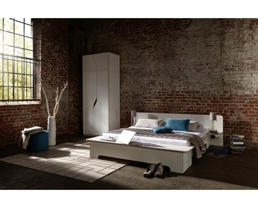 Müller Möbelwerkstätten - Plane Doppelbett - CPL weiß - 180 x 200 - mit Bettkasten - 2