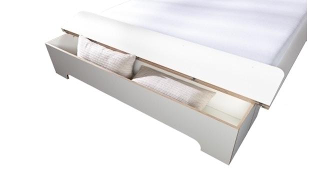 Müller Möbelwerkstätten - Plane Doppelbett - CPL weiß - 180 x 200 - mit Bettkasten - 3