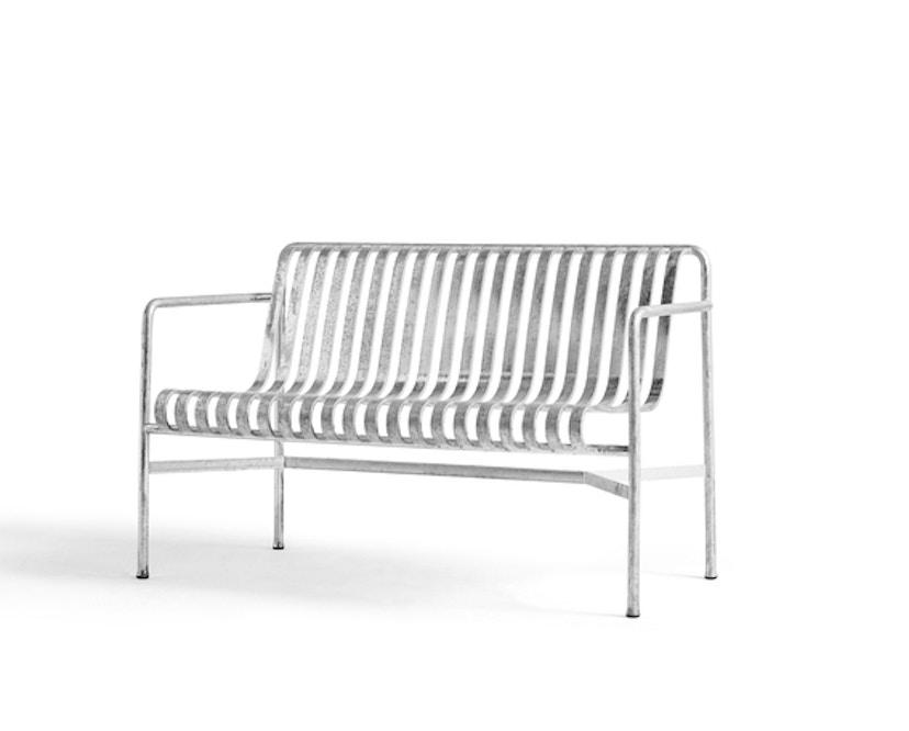 HAY - Palissade Dining Bench - galvanized - 1