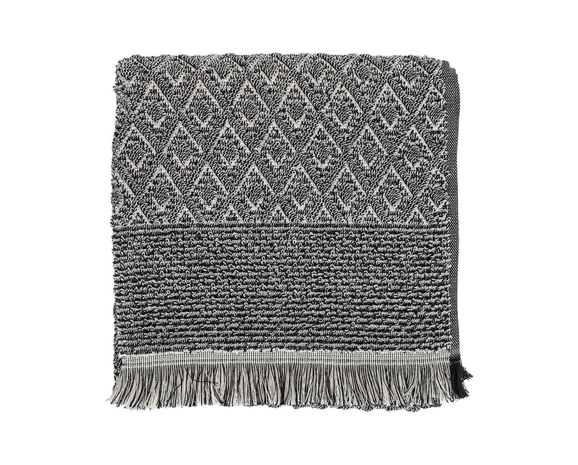 Bloomingville - Handtuch - Baumwolle - schwarz/weiß - Muster Typ 1 - L100xW50 cm - 1